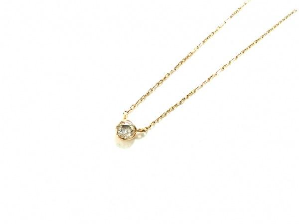 ノーブランド ネックレス美品  - K18×ダイヤモンド クリア 総重量:0.9g/0.10刻印