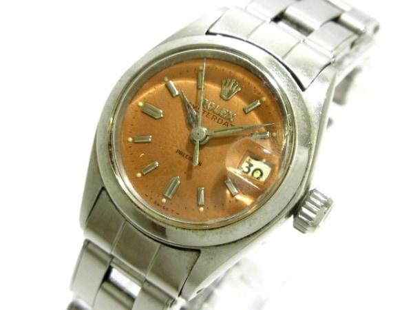 ROLEX(ロレックス) 腕時計 オイスターデイト 6406 レディース ライトブラウン