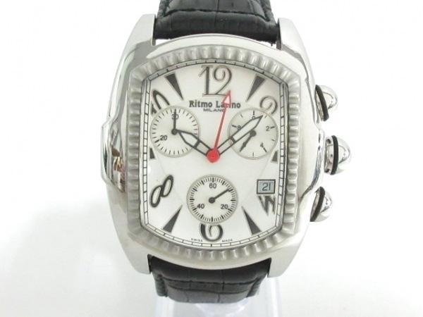 Ritmo Latino(リトモラティーノ) 腕時計 - メンズ クロノグラフ 白×シルバー