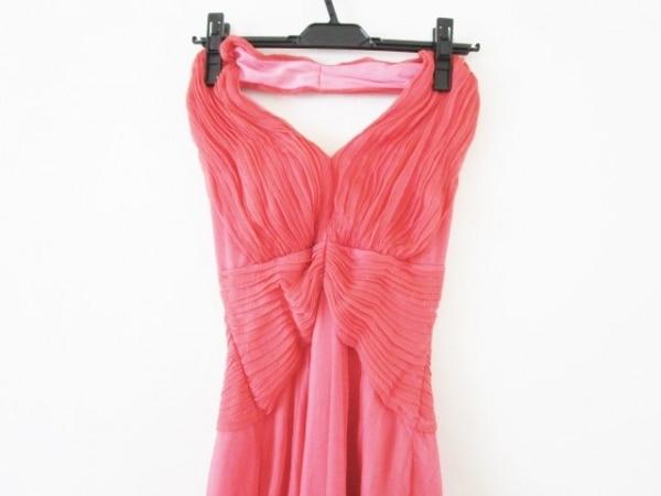 TADASHI(タダシ) ドレス サイズ2 M レディース レッド シルク/プリーツ/collection