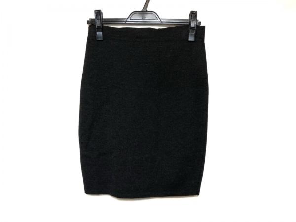 シャネル スカート サイズ36 S レディース美品  ダークグレー ニット/ジップアップ
