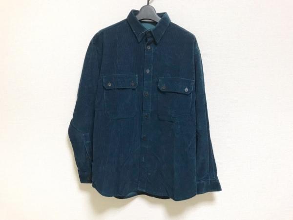 ウミットベナン 長袖シャツ サイズ46 XL メンズ美品  ダークグリーン コーデュロイ