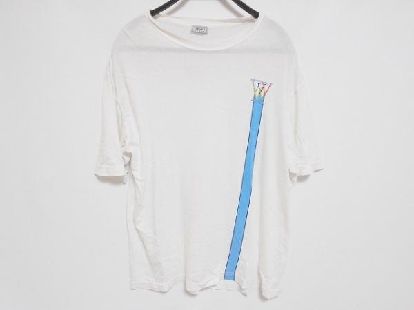 ヴェルサーチスポーツ 半袖Tシャツ サイズ50 メンズ 白×ライトブルー×マルチ