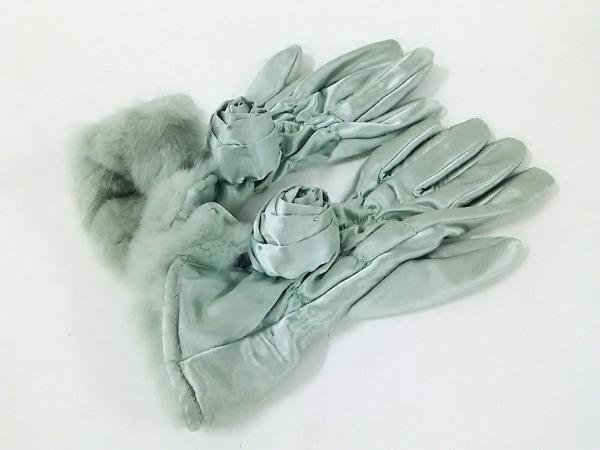 UNOKANDA(ウノカンダ) 手袋 21~22cm レディース美品  ライトグリーン ポリエステル
