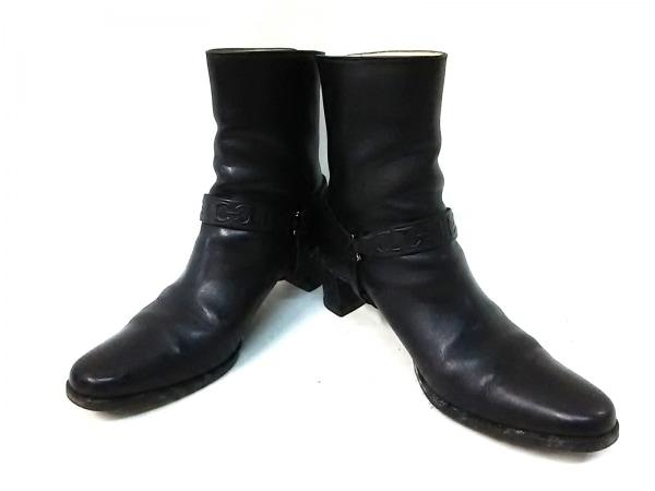 タニノクリスチー ブーツ 36 レディース 黒 アウトソール張替済 レザー