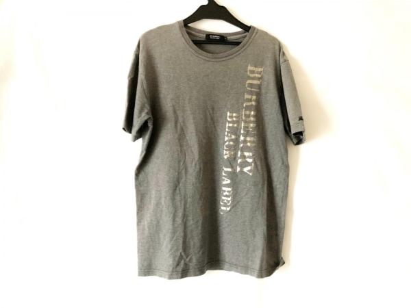 バーバリーブラックレーベル 半袖Tシャツ サイズ3 L メンズ グレー×シルバー