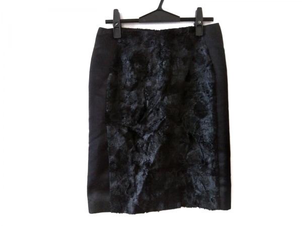 ADORE(アドーア) スカート サイズ38 M レディース新品同様  黒 フェイクファー