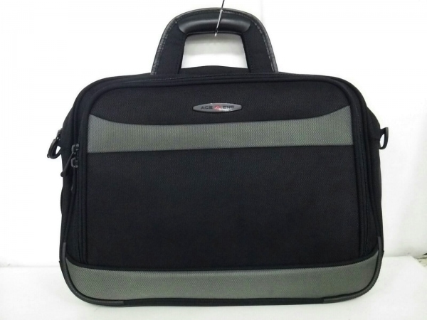 ACEGENE(エースジーン) ビジネスバッグ美品  黒×ダークグレー ナイロン