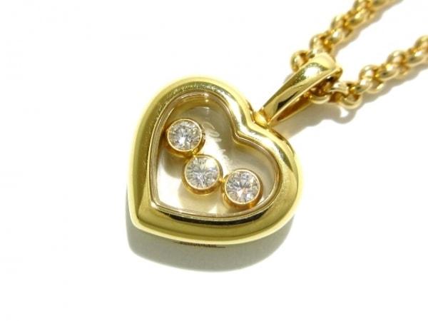 ショパール ネックレス美品  ハッピーダイヤモンド 794611-0003 K18YG×ダイヤモンド