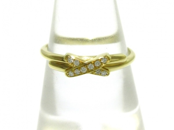 CHAUMET(ショーメ) リング 52美品  プルミエ・リアン K18YG×ダイヤモンド