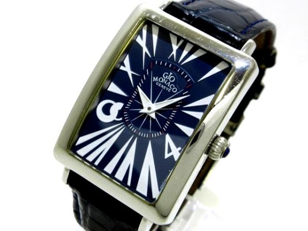 GIO MONACO(ジオ モナコ) 腕時計 ANGELO - メンズ 革ベルト ダークネイビー