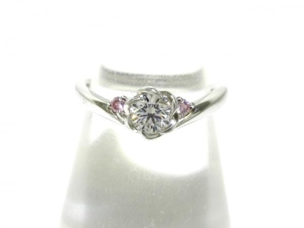 TRECENTI(トレセンテ) リング美品  Pt1000×ダイヤモンド×カラーストーン ピンク