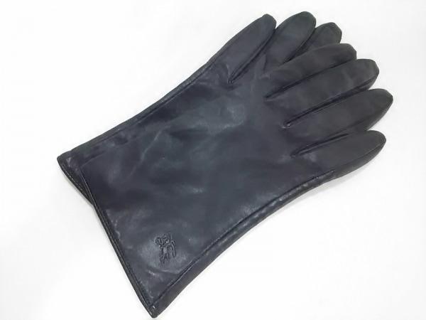 Burberry Blue Label(バーバリーブルーレーベル) 手袋 レディース新品同様  黒 レザー
