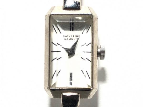 KATHARINEHAMNETT(キャサリンハムネット) 腕時計 KH-8004 レディース 白