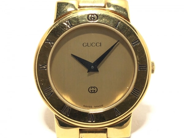 GUCCI(グッチ) 腕時計 3300L レディース ゴールド