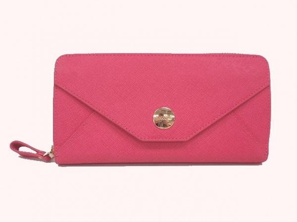 BARCOS(バルコス) 財布 ピンク ラウンドファスナー レザー