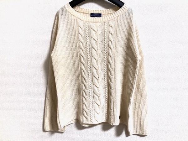 バーバリーブルーレーベル 長袖セーター サイズ38 M レディース美品  アイボリー