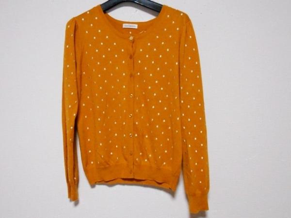 ロイスクレヨン カーディガン サイズM レディース美品  オレンジ×ベージュ 刺繍
