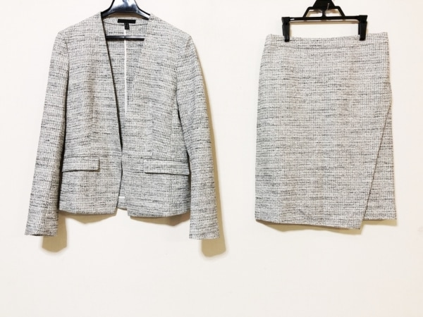 ICB(アイシービー) スカートスーツ サイズ9 M レディース 白×黒
