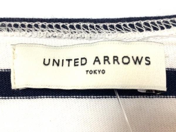 ユナイテッドアローズ Tシャツ レディース 白×ダークネイビー ボーダー