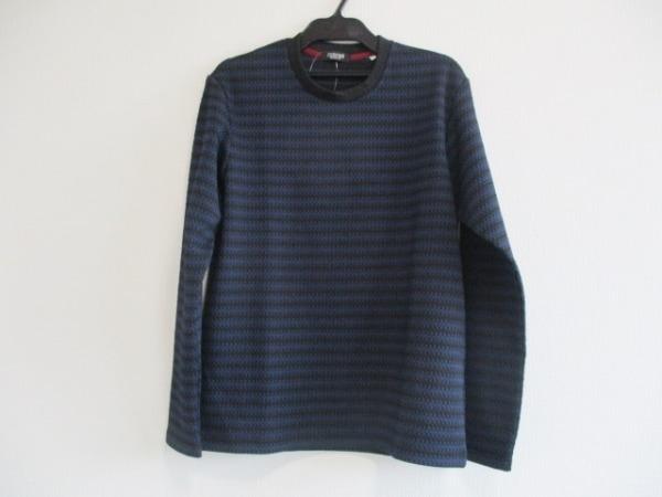 barassi(バラシ) 長袖カットソー サイズ46 XL メンズ美品  黒×ネイビー