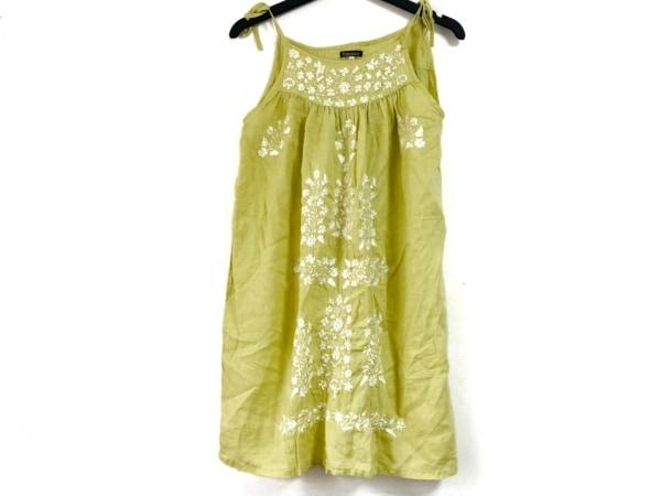 ボヘミアンズ ワンピース サイズS レディース ライトグリーン×白 刺繍/フラワー
