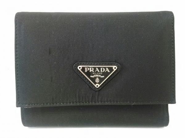 PRADA(プラダ) 3つ折り財布美品  - M667 黒 ナイロン