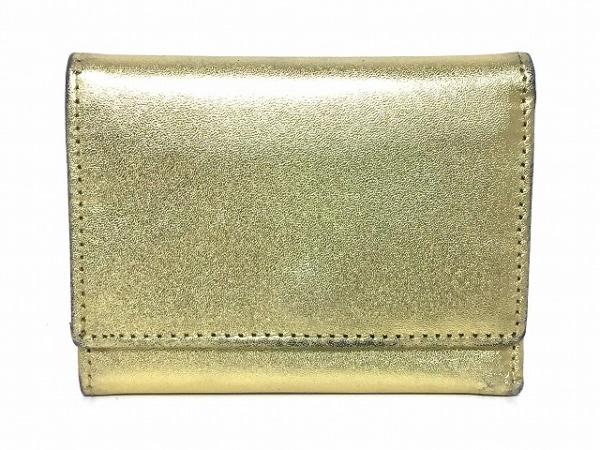 BECKER(ベッカー) 3つ折り財布 ゴールド レザー