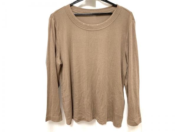 ラピーヌルージュ 長袖セーター サイズ46 XL レディース美品  ライトブラウン