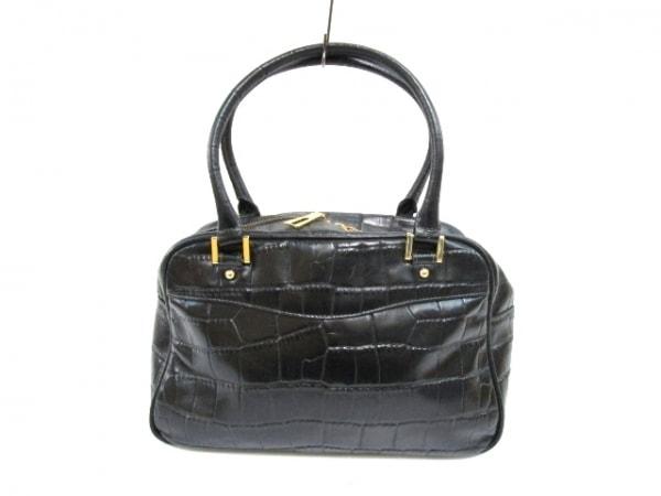 Falchi New York(ファルチ ニューヨーク) ハンドバッグ 黒 型押し加工 レザー