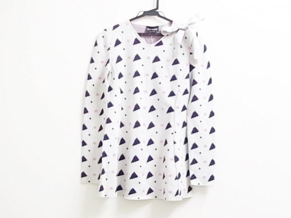 エンポリオアルマーニ 長袖セーター サイズ38 S レディース ベージュ×黒×ピンク