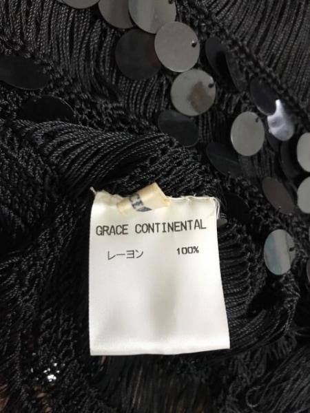 グレースコンチネンタル ノースリーブカットソー サイズ36 S レディース美品  黒