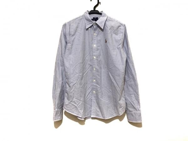ラルフローレン 長袖シャツ サイズ8 メンズ美品  ライトブルー×アイボリー