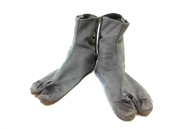 SOU・SOU(ソウソウ) 靴 23.0 メンズ グレー 足袋 コットン