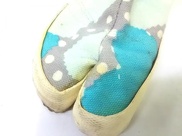 SOU・SOU(ソウソウ) 靴 23.0 レディース ライトブルー×白×マルチ 足袋 キャンバス