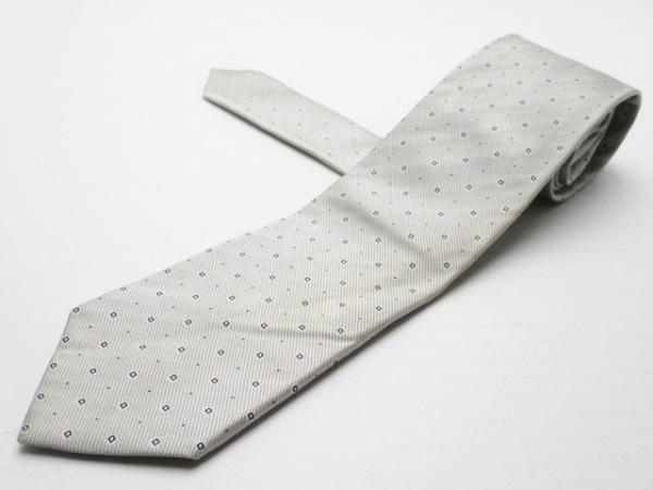 Maker's Shirt鎌倉(メーカーズシャツカマクラ) ネクタイ メンズ ライトグレー×黒×白