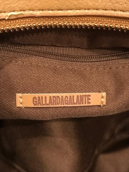 GALLARDAGALANTE(ガリャルダガランテ) ハンドバッグ ブラウン×レッド 合皮×化学繊維