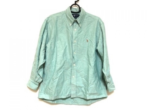 RalphLauren(ラルフローレン) 七分袖シャツ サイズ15 1/2-33 メンズ ライトグリーン