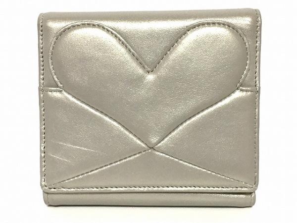UNOKANDA(ウノカンダ) Wホック財布 グレー ハート レザー