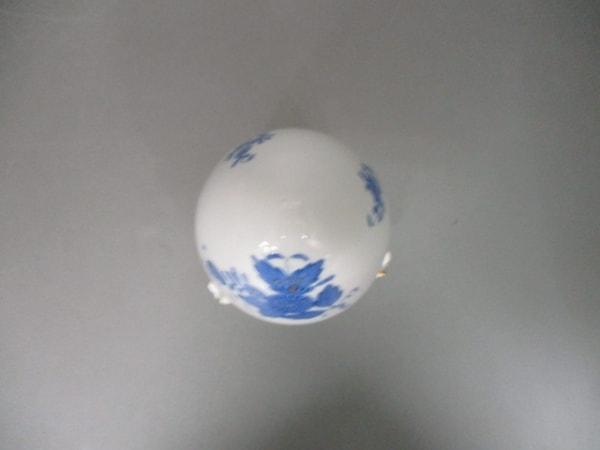 Herend(ヘレンド) 小物新品同様  白×ネイビー×ゴールド キャンディボックス 陶器