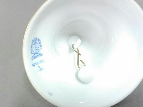 Herend(ヘレンド) 小物美品  白×ネイビー×ゴールド 呼鈴 陶器