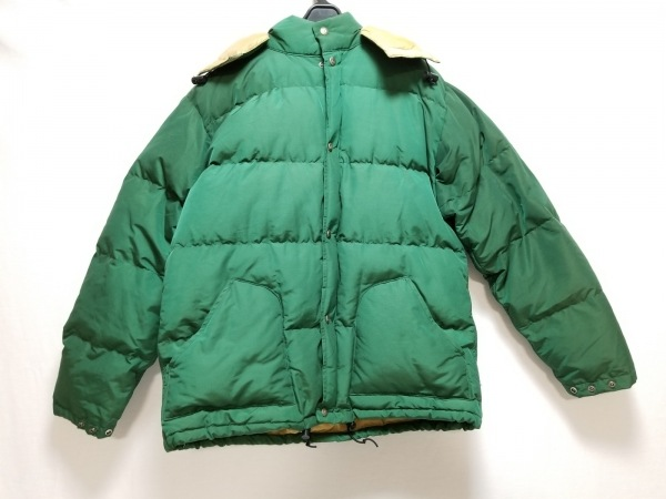 シェラデザイン ダウンジャケット サイズL メンズ グリーン 冬物/ジップアップ