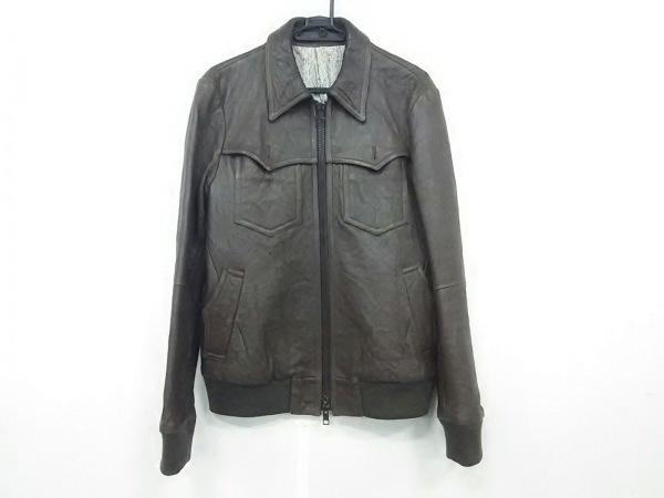 ナンバーナイン ライダースジャケット サイズ3 L メンズ ダークブラウン