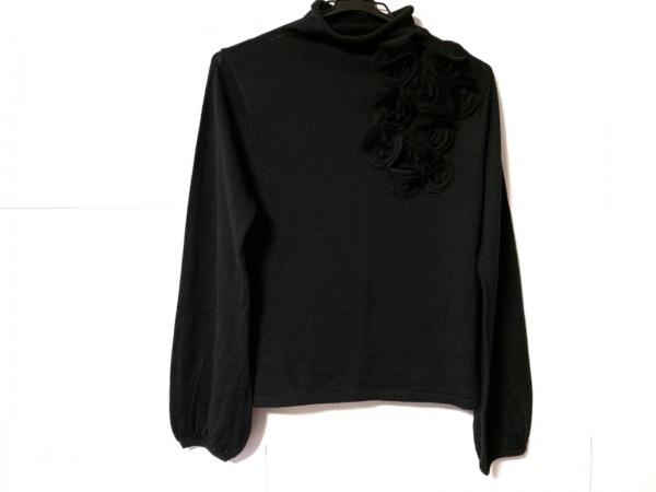 NERO(ネロ/センソユニコ) 長袖セーター サイズ38 M レディース 黒 フラワー