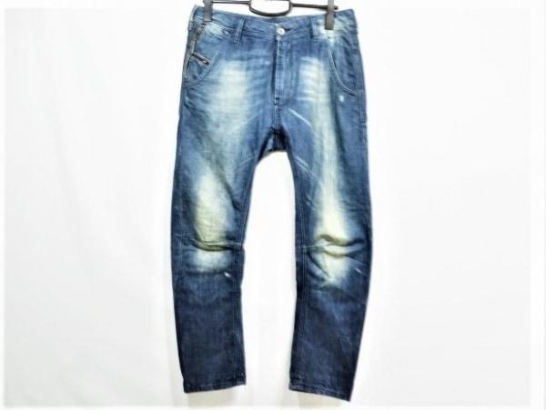 DIESEL(ディーゼル) ジーンズ サイズ14 メンズ PROFYX ネイビー ダメージ加工