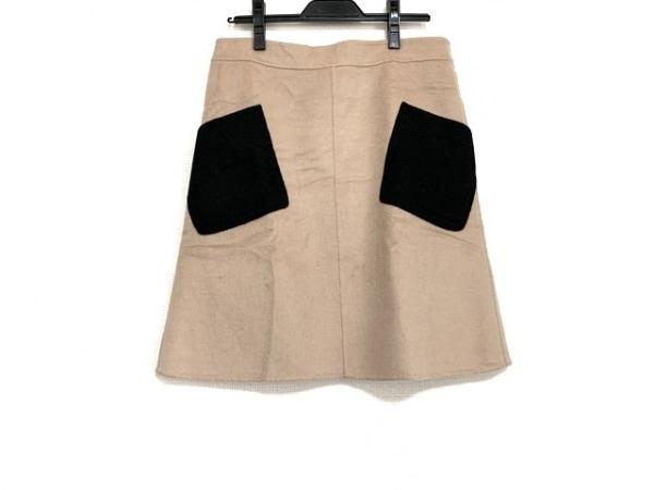 モスキーノ チープ&シック スカート サイズ42 M レディース美品  ライトブラウン×黒