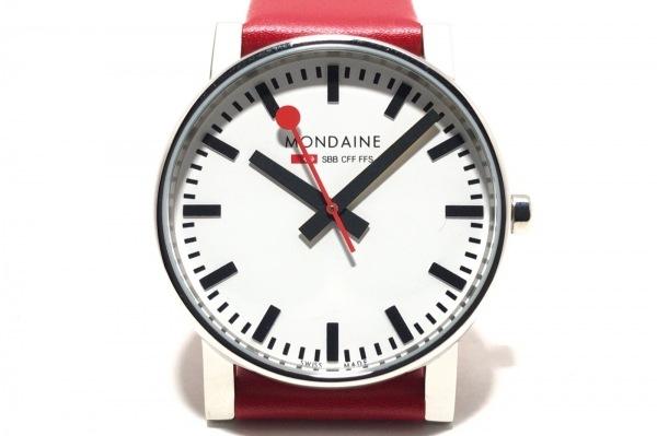 MONDAINE(モンディーン) 腕時計 エヴォ - ボーイズ 革ベルト 白