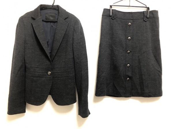 ICB(アイシービー) スカートスーツ レディース美品  ダークグレー