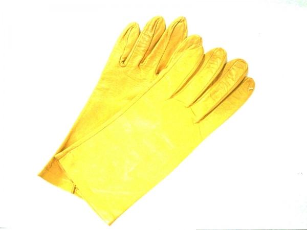 Sermoneta gloves(セルモネータグローブス) 手袋 7  1/2 レディース イエロー レザー