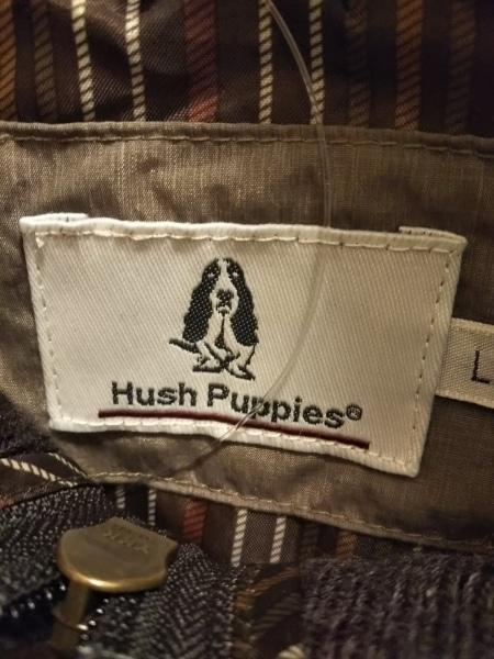 HUSH PUPPIES(ハッシュパピーズ) ブルゾン サイズLL メンズ美品  ダークグレー×黒